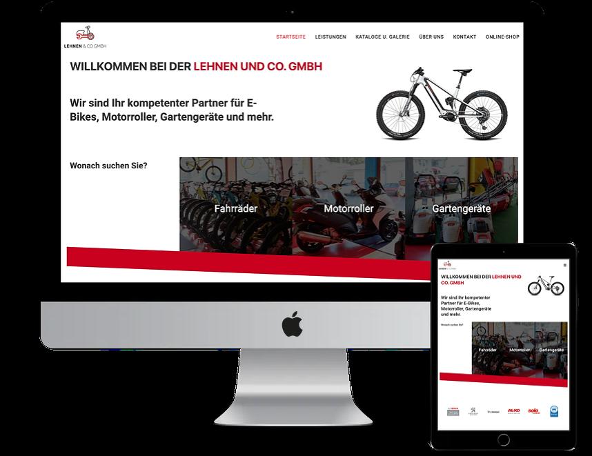 Zweiradcenter Lehnen - Digital best Webdesign Saarland
